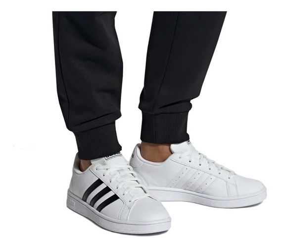 Tênis adidas Masculino E Feminino Branco Preto Original +nf