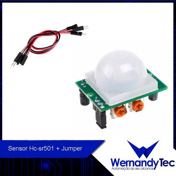 Sensor De Movimento Presença Pir Hc-sr501 + Cabo P/ Arduino