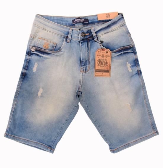 Bermuda Jeans Masculina John John Original Slim Fit C/ Stretch