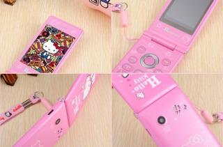 Celular Modelo Wooman Rosa Version Hello Kitty Nuevo En Caja
