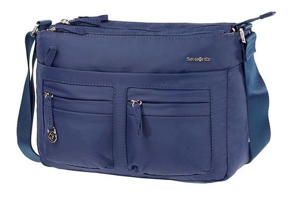 Cartera Samsonite Horizontal Shoulder Bag + Flap Azul