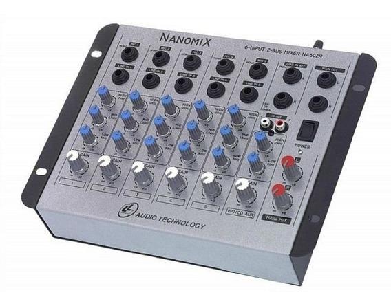 Mesa De Som Mixer Nanomix Na602r 6 Canais Nca Ysm