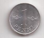 Finlandia Moneda De 1 Penni Año 1979