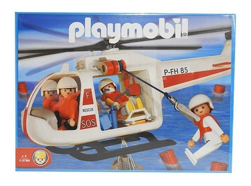 Imagen 1 de 2 de Playmobil Helicoptero Salvataje 3789