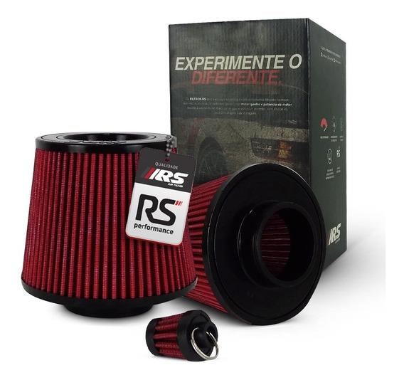 Filtro De Ar Esportivo Duplo Fluxo 2,5 Polegadas Vermelho