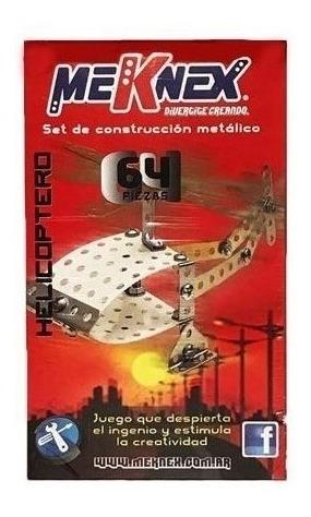 Meknex 64 Pzas Helicoptero Art K20 Juegos Mecanicos 0020