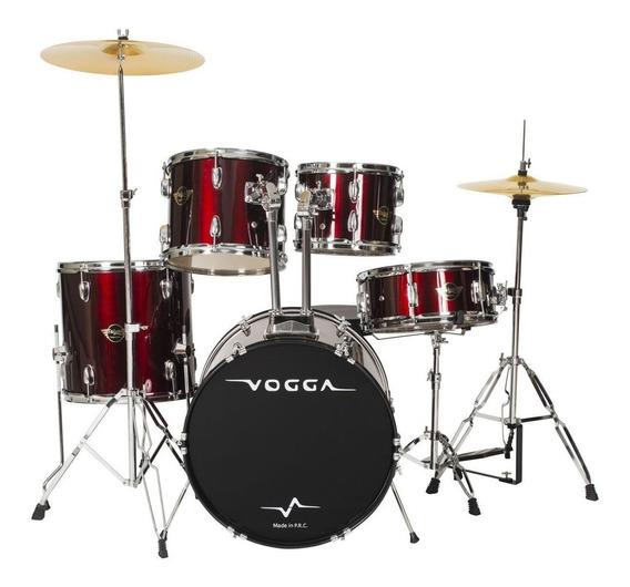Bateria Acústica Talent Vpd918 Bumbo 18 Pol Vinho Vogga