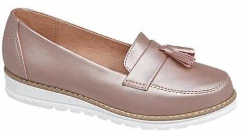 Zapato Efecto Oro Rosa Dama Elegante Decorado Empeine 825315