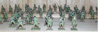 Soldados De Plástico Escala 1/72 Originales 62 Piezas