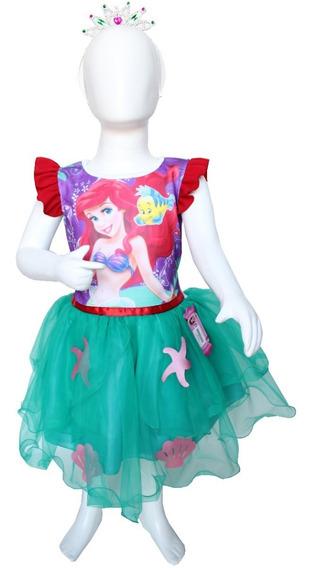 Disfraz Sirenita Ariel Princesa Vestidos Fiesta Traje
