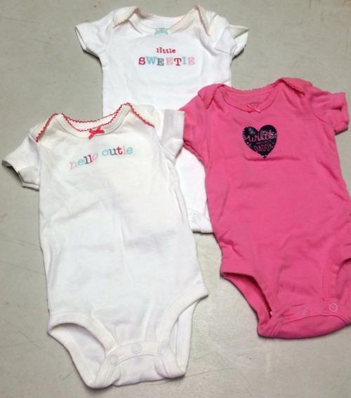 Bodys Carters Bebe Niña Nb Recien Nacido Ropa Regalo