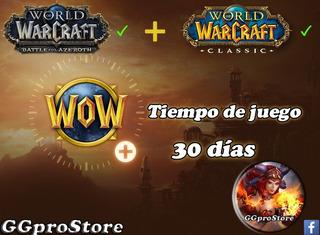 Ficha Wow, Tiempo De Juego World Of Warcraft, Token, 30 Días