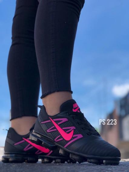 Calzado Zapatilla Zapatos Tenis Nk Vapor Max Par Dama Mujer