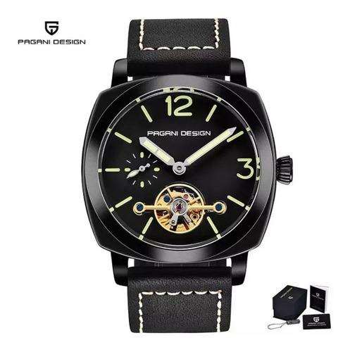 Relógio Maculino Automático Pagani Design Original Turbilhão