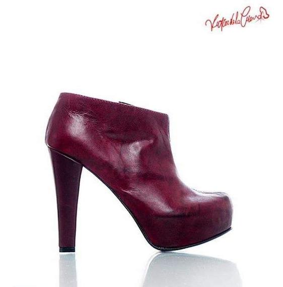 Zapatos Media Caña Color Borravino N39 Victor Dé La Cueva