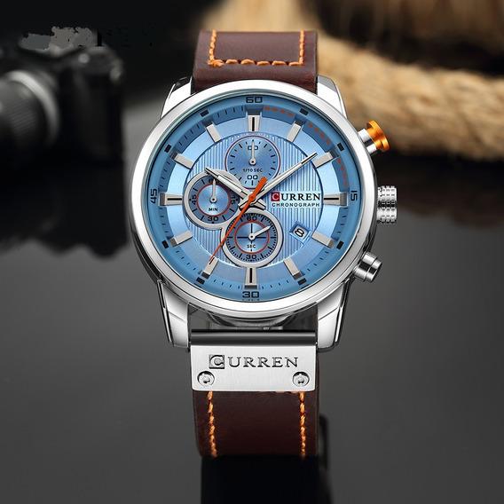 Relógio Masculino Curren Luxo Original Com Garantia