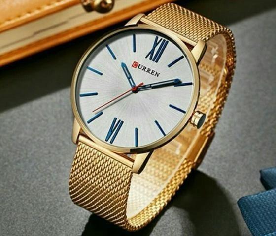 Relógio Masculino Curren Analógico 8238 Dourado
