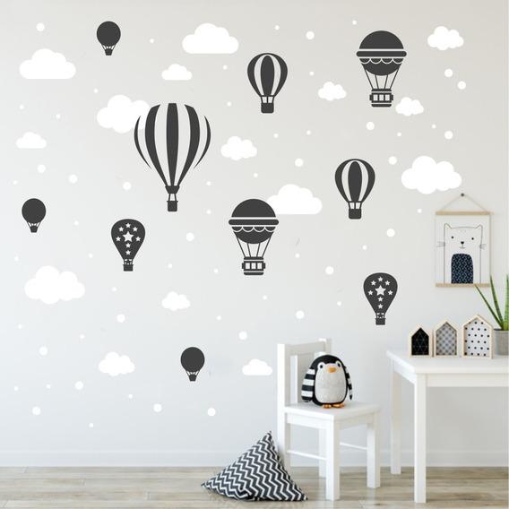Adesivo Infantil Nuvens Balões Bolinhas Bebe Varias Cores