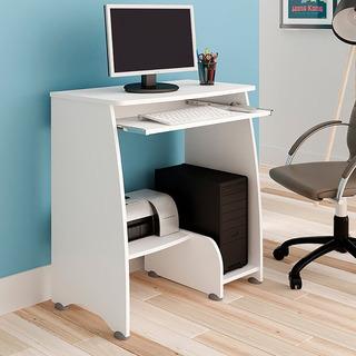 Mesa Para Computador Artely C/ Espaço P/ Cpu Branco