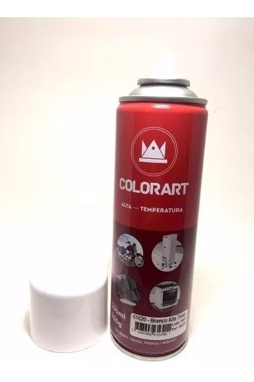 Tinta Spray Alta Temperatura 600ºc Branco Brilhante 300 Ml
