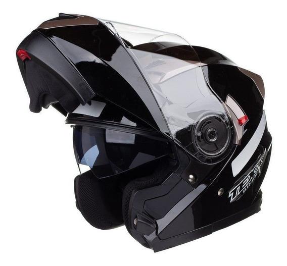 Capacete Feminino Articulado Texx Dv Smart Robocop Vis Solar