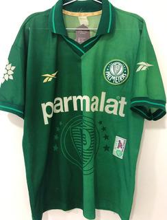 Camisa Palmeiras Usada Jogo Brasileiro 97 Alex Autografada