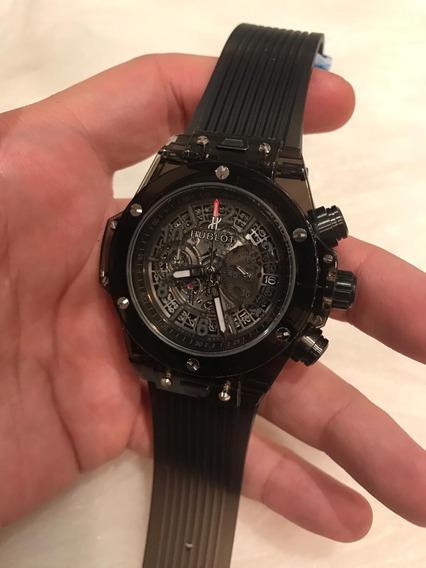 Relógio Hb Cristal Preto 2 Anos 12x S/juros C/frete