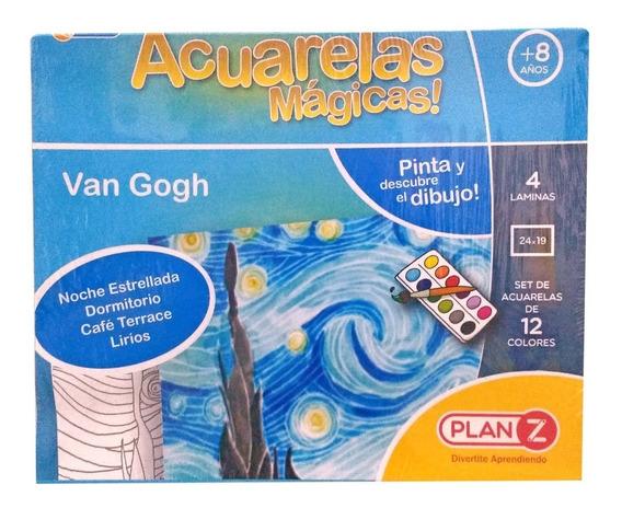 Juego Acuarelas Magicas Artisticas Van Gogh 12 Colores Ctas