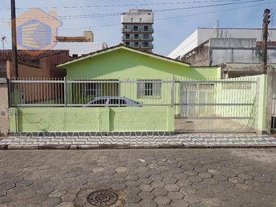 Casa Lado Praia Com 03 Dormitórios + Edicula + Espaço Para Piscina À Venda, Centro, Mongaguá. - Ca0104