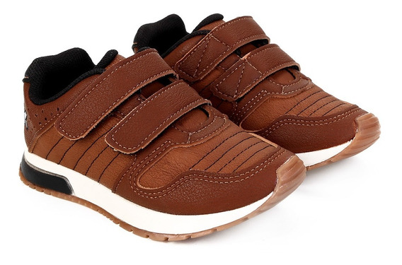 Tênis Jogging Infantil Klin Velcro Baby Walk   Gaby Calçados