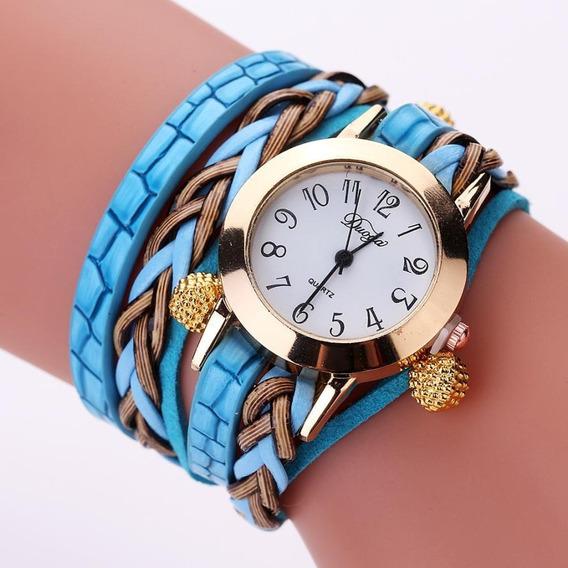 Relógio Mulheres Lindo Barato Pulseira Na Caixa + Brinde
