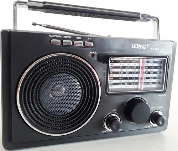 Rádio Mp3 Lelong Le-609 Am Fm Musicas Entrada Fone De Ouvido