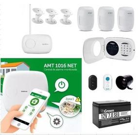 Intelbras Kit Central De Alarme - Amt1016 Net / Xat3000 Led