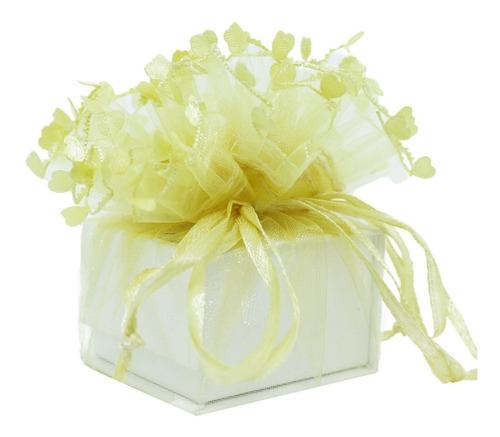 50 Saquinhos Flor De Organza Para Bijuterias E Jóias 26 Cm