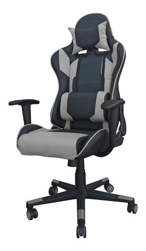 Imagen 1 de 2 de Silla de escritorio Desillas Pro Legend gamer  negra y gris