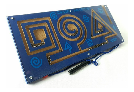 Brinquedos Educativos Madeira Labirinto Cursores Magnéticos