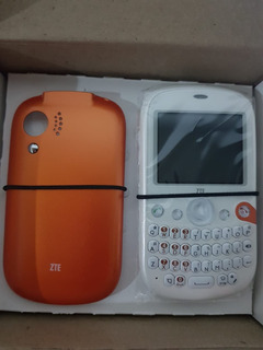 Celular Zte X630 Dual Branco E Laranja