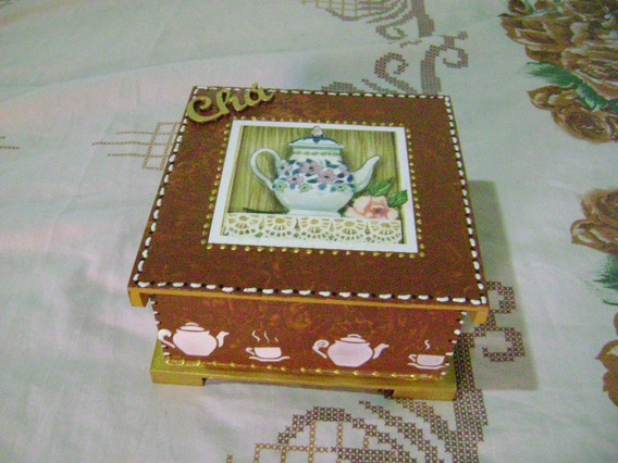 Caixa De Chá 4 Divisorias