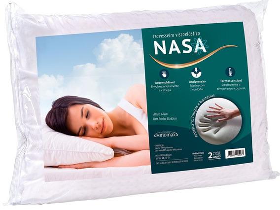 Travesseiro Duoflex Sonomax Nasa Visco P/ Fronha 65x45