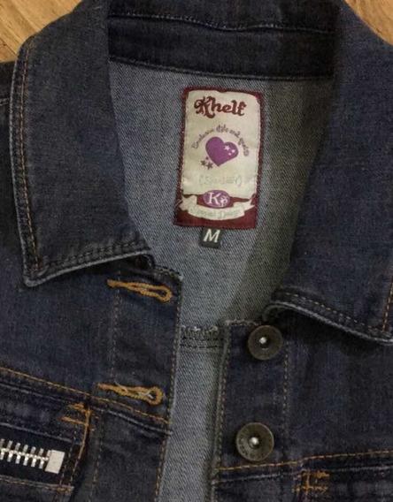 Jaqueta Jeans Cropped Khelf