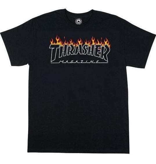 Remera Thrasher Original Flame Hombre
