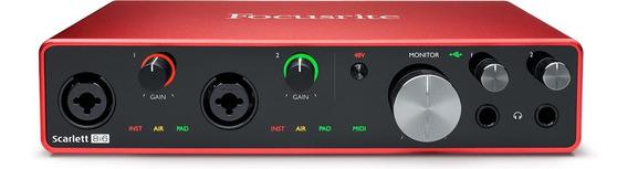 Interface De Áudio Scarlett 8i6 Geração 3 - Focusrite - Nf