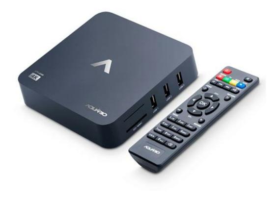 Tv Box Aquário Stv-2000 Padrão 4k 8gb Preto Com Memória Ram