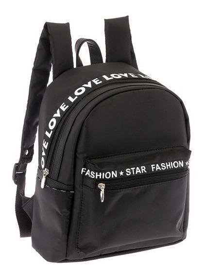 Bolsa Mochila Backpack Bolso Negro 0090 Jennyfer Original