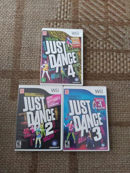 Wii 3 Jogos Just Dance Original Americano