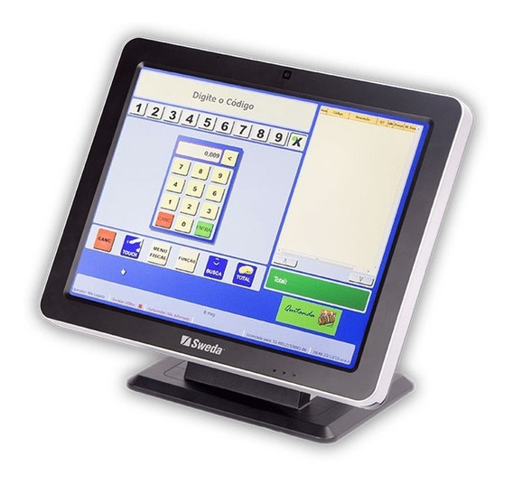Monitor Touch Screen Led Sweda 15 Smt-200 - Capacitivo Nfe