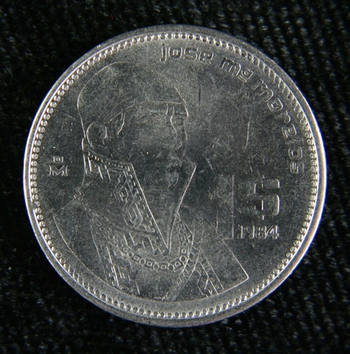 Imagen 1 de 5 de Moneda Antigua De José María Morelos Y Pavón 1984-1985-1986