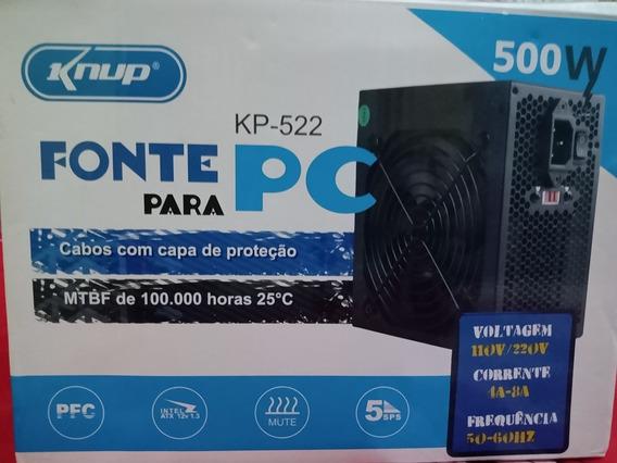 Fonte Atx 500w Reais 20+4p Super Silenciosa