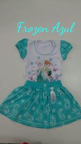 Vestido Tematico Infantil Frozem