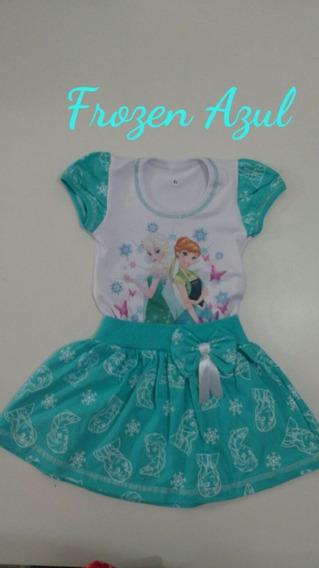 Vestido Tematico Infantil Personagem Frozem